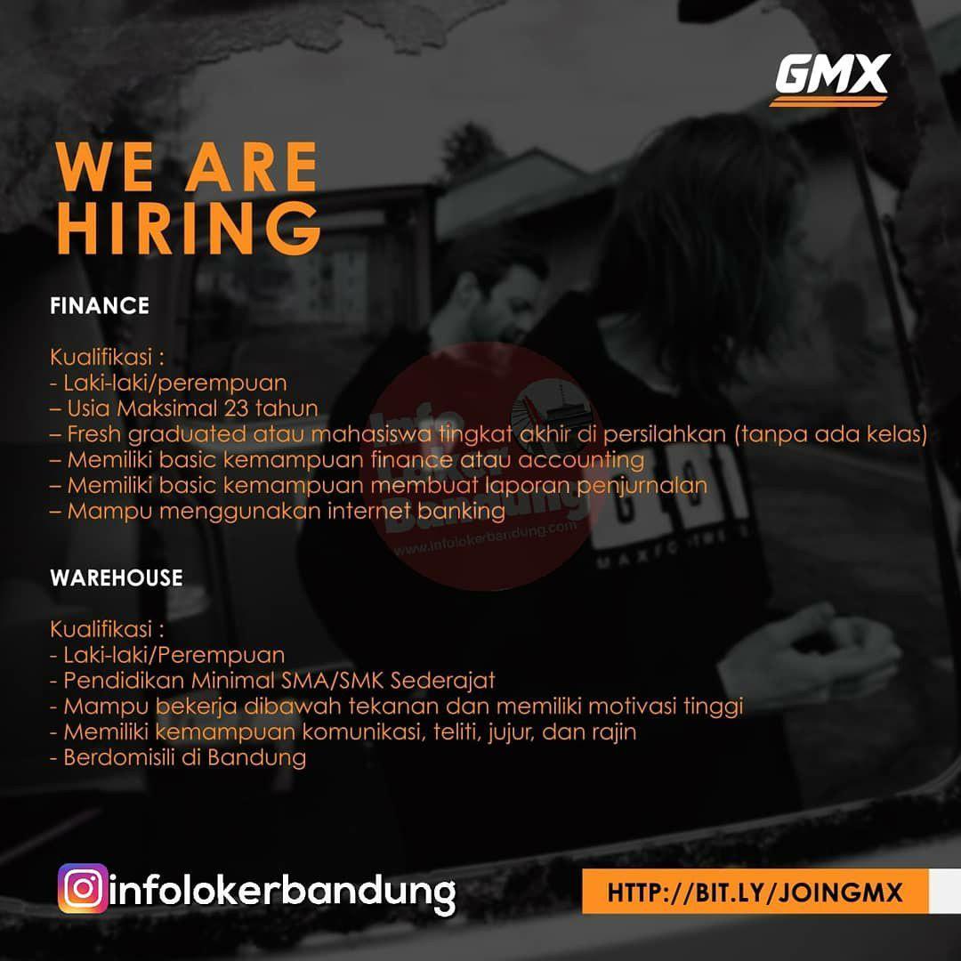 Lowongan Kerja GMX Bandung Februari 2019