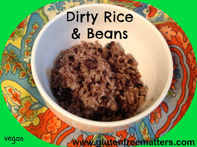Rice and beans in a bowl