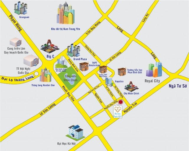 Vị trí chung cư Rivera Park - 69 Vũ Trọng Phụng