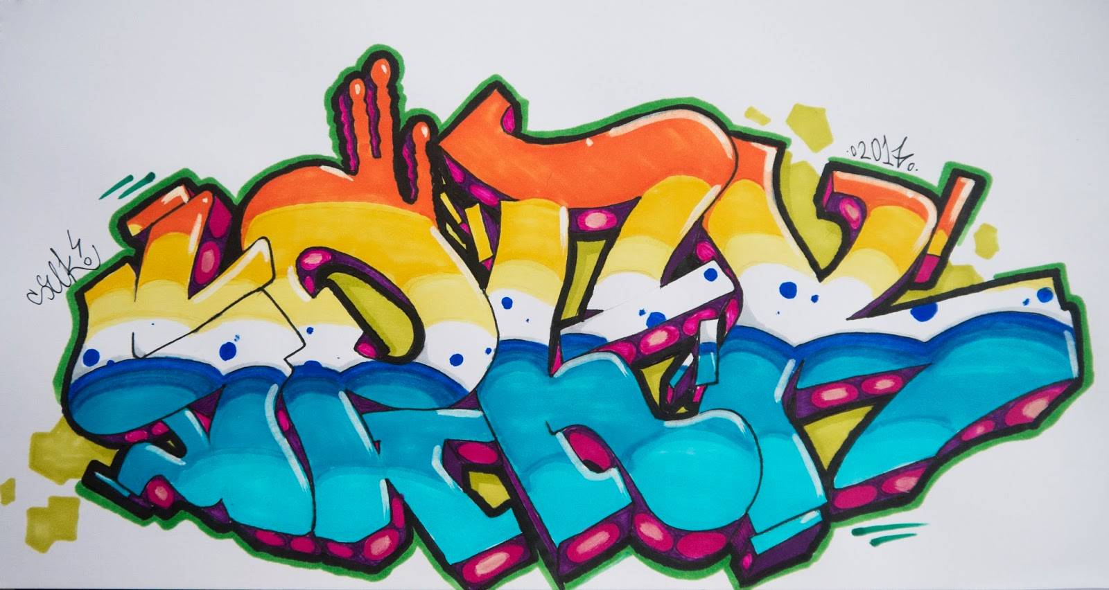 Blackbook Graffiti With Stylefile Markers