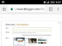 Cara Membuat Blog di Blogger Lewat HP Untuk Pemula