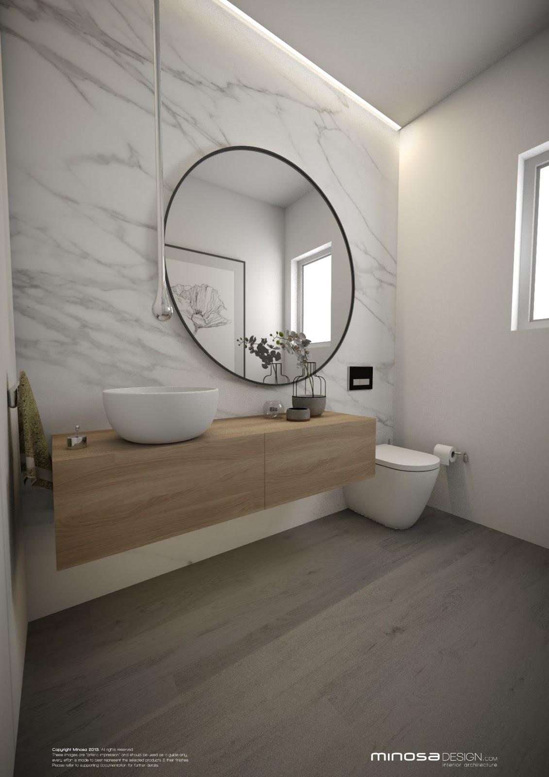 Minosa Powder Room  The WOW bathroom
