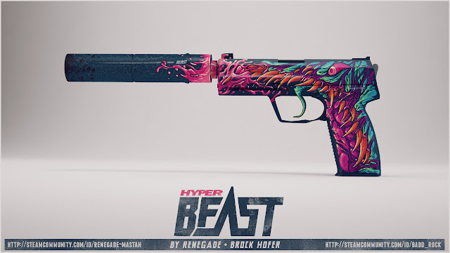 Workshop Warsztat Steam CS GO - USP-S | Hyper Beast