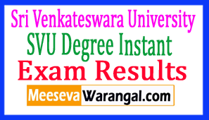 Sri Venkateswara University SVU Degree Instant Exam Results