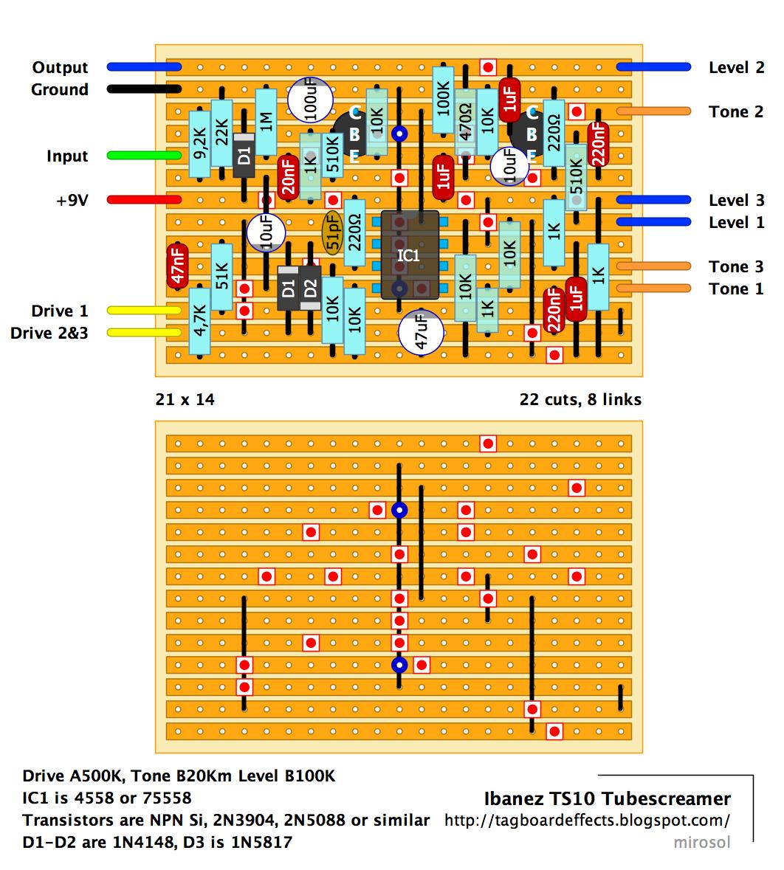 Guitar FX Layouts: Ibanez TS10 Tube Screamer