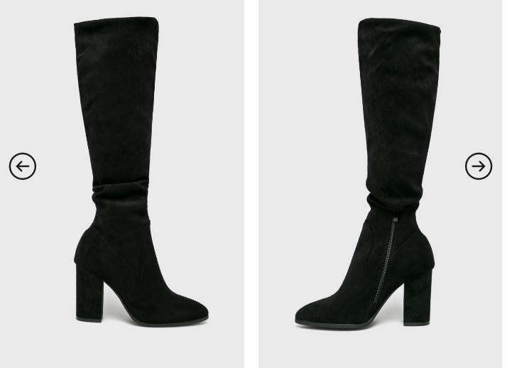 Answear - Cizme negre lungi comode frumoase cu toc