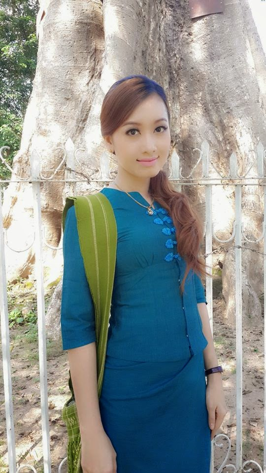 Yu Thandar Tin in Beautiful Yangon University