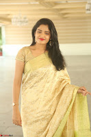 Harshitha looks stunning in Cream Sareei at silk india expo launch at imperial gardens Hyderabad ~  Exclusive Celebrities Galleries 030.JPG