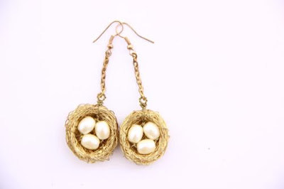 Three eggs in the Nest Earrings Jewellery Wholesale Suppliers