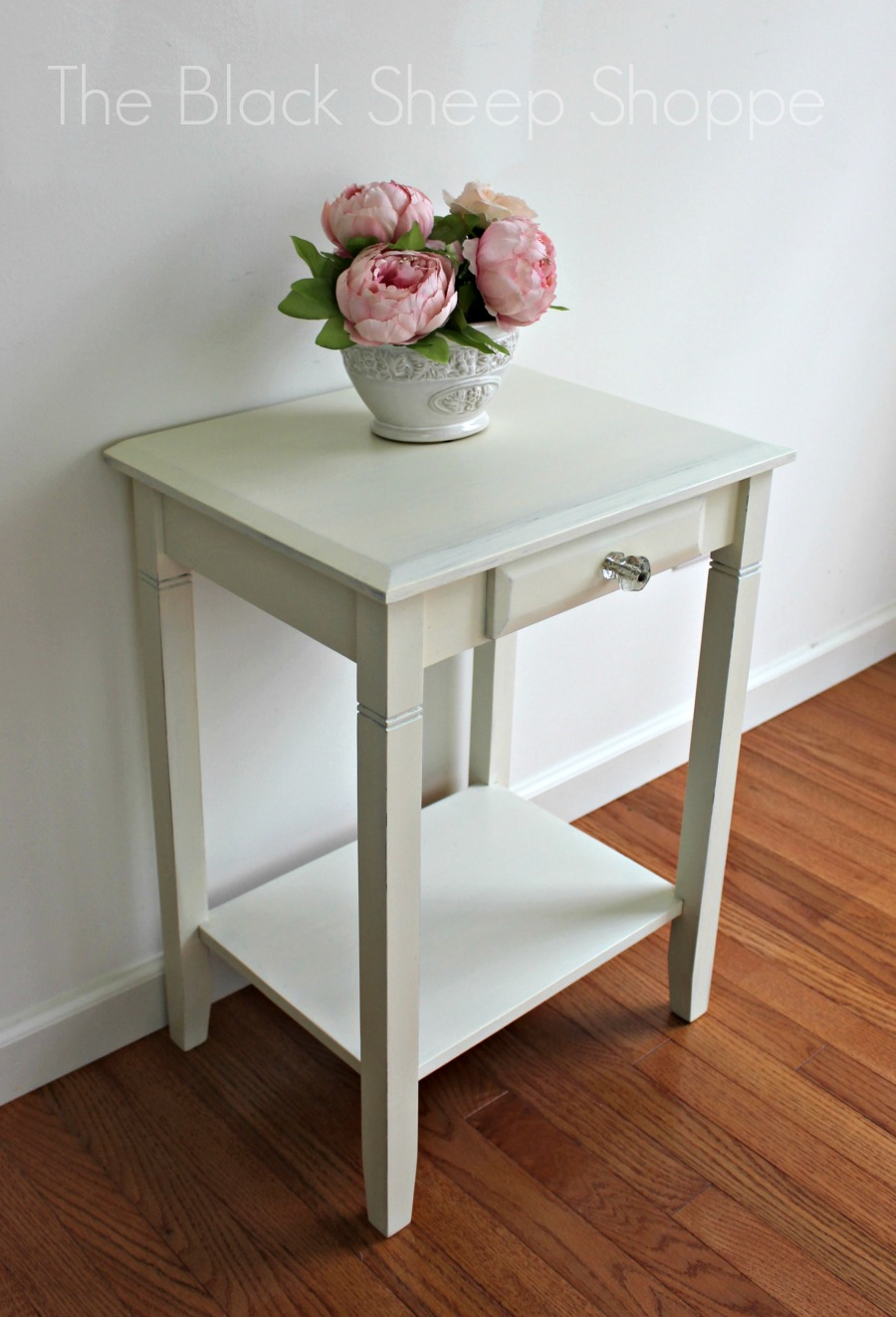 Nightstand transformed with Chalk Paint.