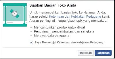 Ketentuan Kebijakan Pedagang Fanspage