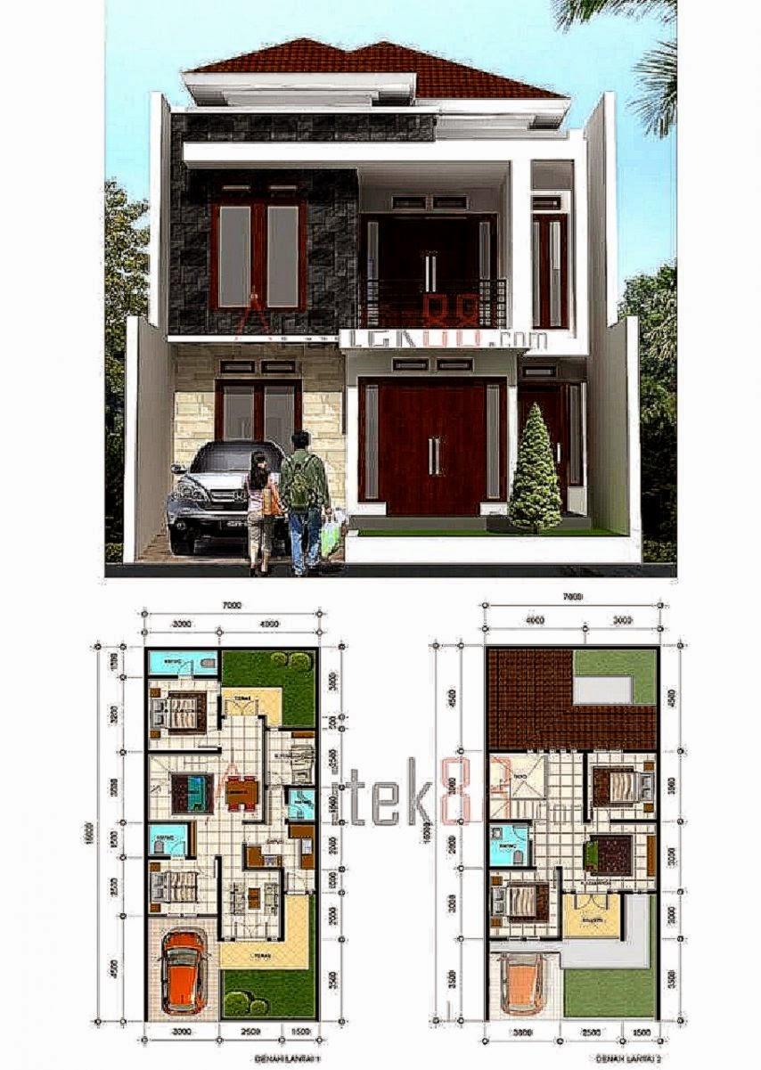 Top Denah Rumah Ukuran 6x9 2 Lantai Denarumah