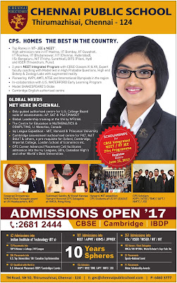 CHENNAI PUBLIC SCHOOL CHENNAI