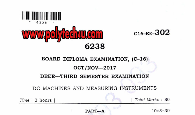 C-16 DEEE DC MACHINES AND MEASURING INSTRUMENTS QUESTION PAPER FOR FREE DOWNLOAD