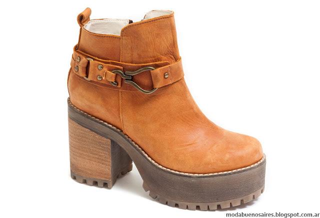 Botas 2016 taco cuadrado Traza Calzados. Moda invierno 2016 botas.