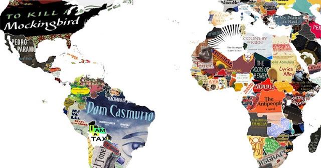 Este mapa incrível mostra os clássicos da literatura mundial