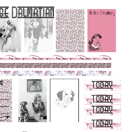 FREE Vintage Dalmation planner Printable for Mambi Happy Planner