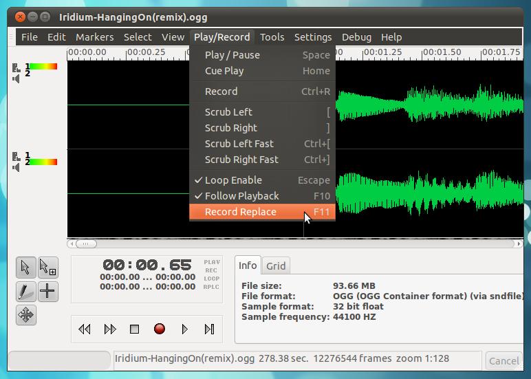 Multitrack Audio Editor/Recorder for Ubuntu: GNUSound