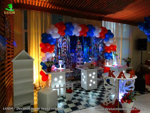 Decoração para festa de aniversário de adolescentes - Nova York