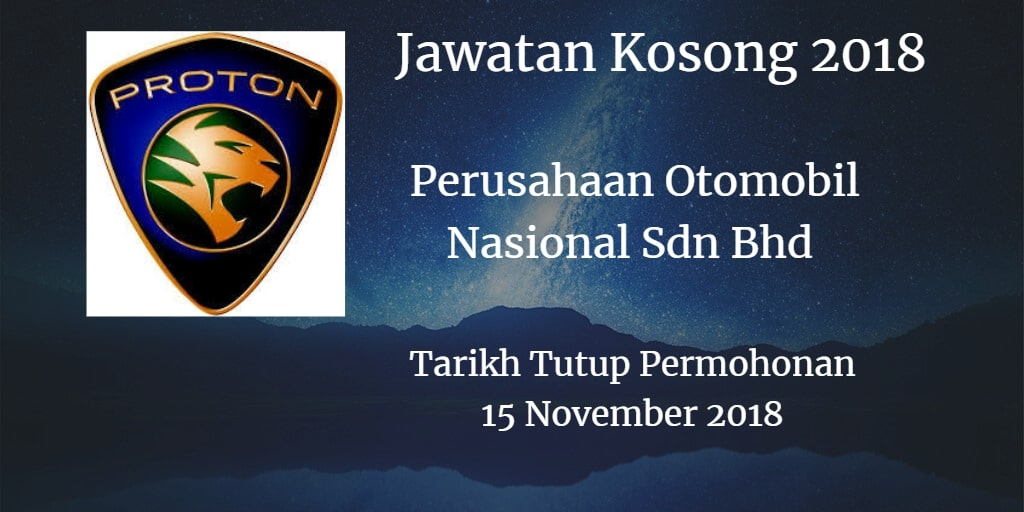 Jawatan Kosong PROTON 15 November 2018