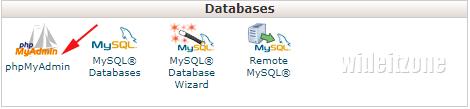 Check MySql storage engine via phpMyAdmin