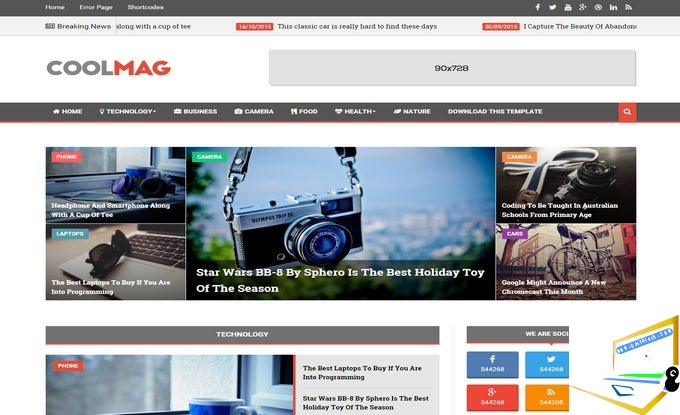 Cool Mag Blogger Template | Download Free Cool Mag Blogger ...