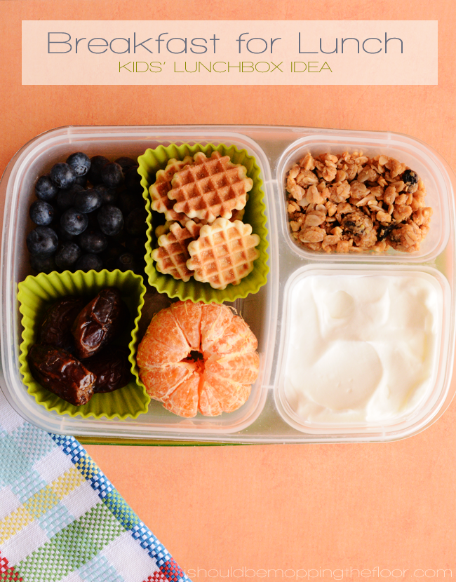 Breakfast for Lunch | Easy idea to send your kiddos in a school lunch.