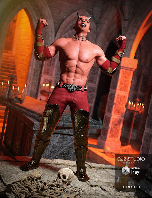 DAZ 3D - Hellion Outfit for Genesis 3 Male