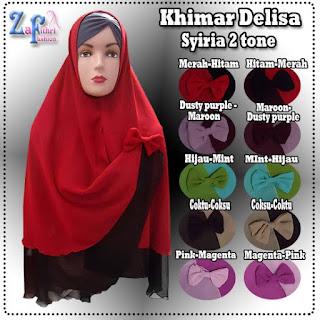 Jual Khimar Delisa Syiria Model Terbaru Harga Murmer