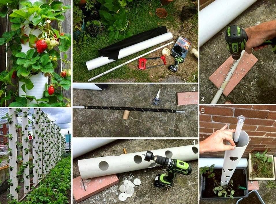 chab 39 blog chab 39 brico planter des fraises en hauteur. Black Bedroom Furniture Sets. Home Design Ideas