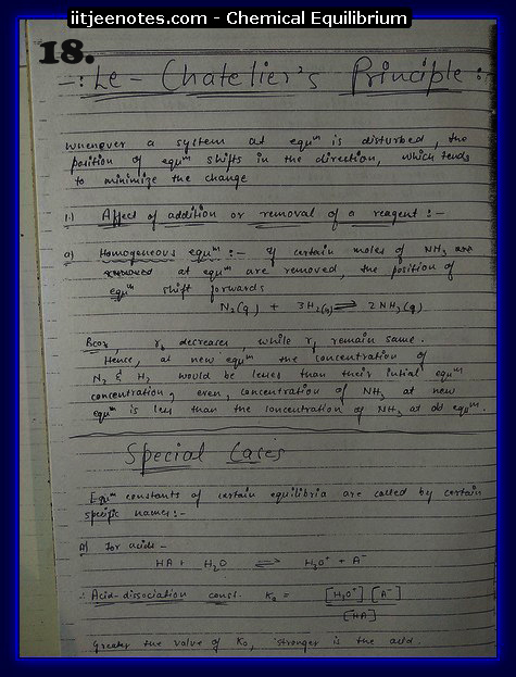 Chemical Equilibrium Notes IITJEE4