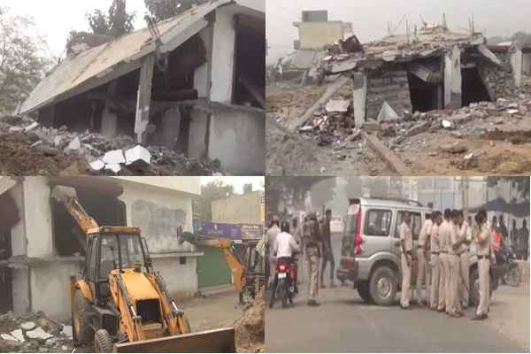 faridabad-sector-85-three-illegal-building-removed-by-mcf-police