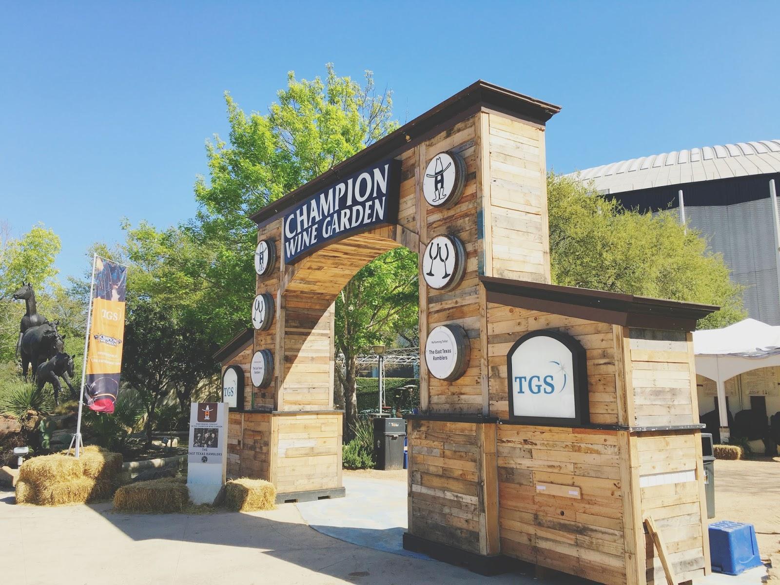 2016 Houston Livestock Show and Rodeo Champion Wine Garden