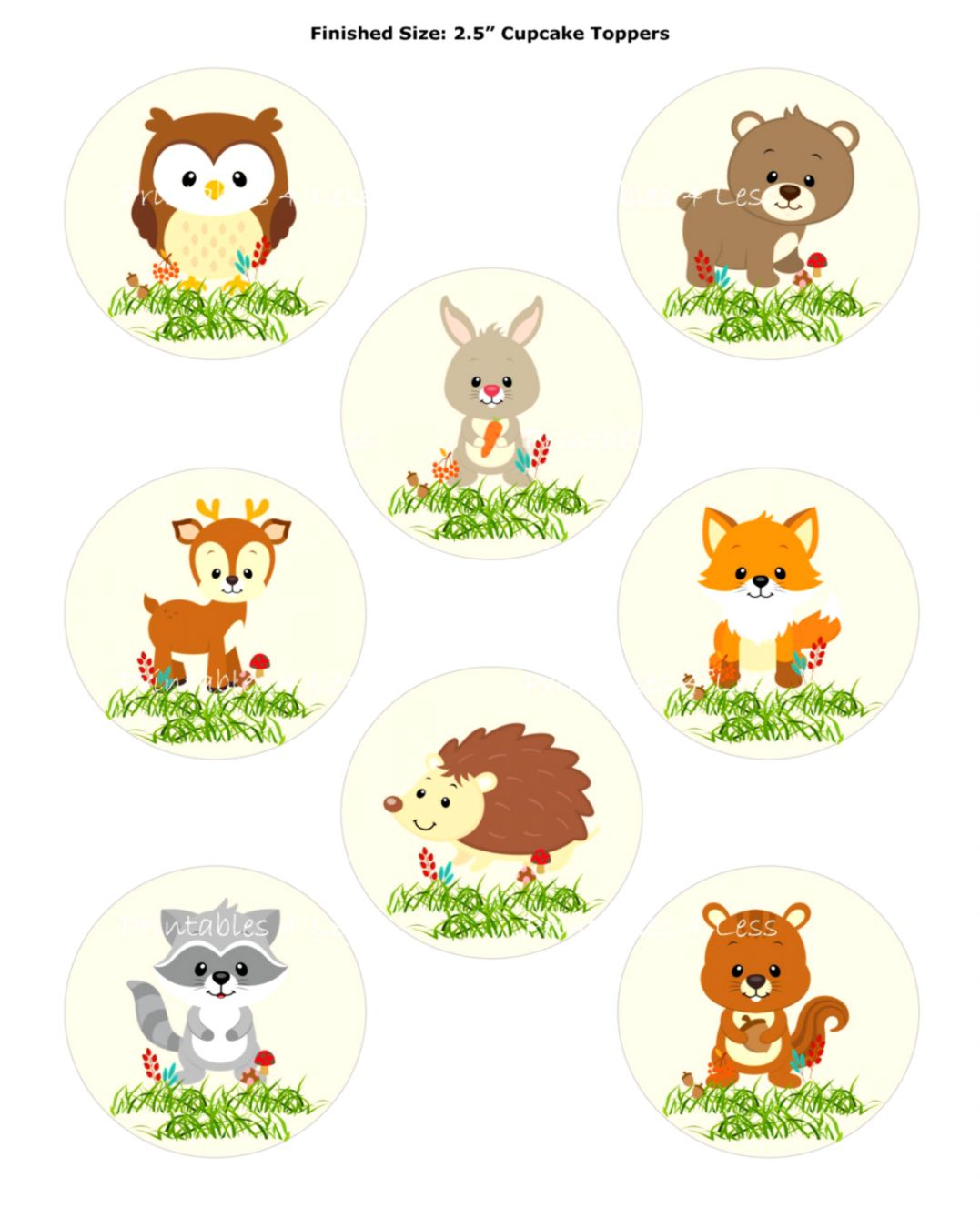 image regarding Printable Woodland Animals titled Woodland Pets Printables Area Wallpapers