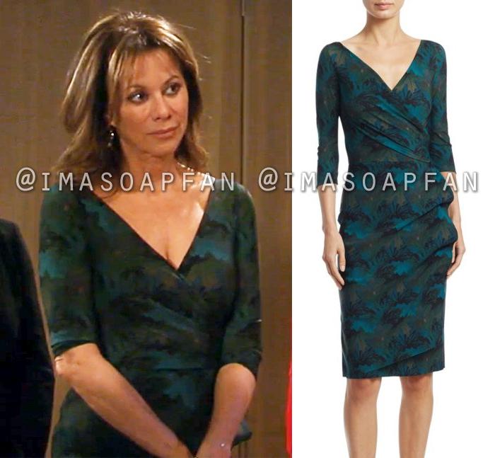 b9e4bf27a8 Alexis Davis s Green Print Wrap Dress - General Hospital
