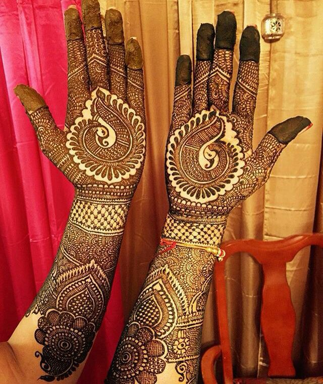 Mehndi Peacock Theme : Beautiful peacock mehndi designs to try in bling