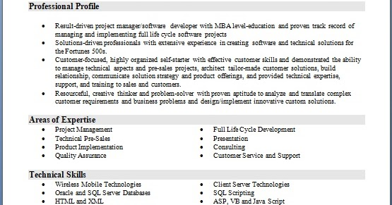 program manager software engineer sample resume format in