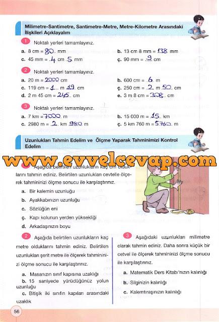 4. Sınıf Yakın Çağ Yayınları Matematik Çalışma Kitabı 56. Sayfa Cevapları