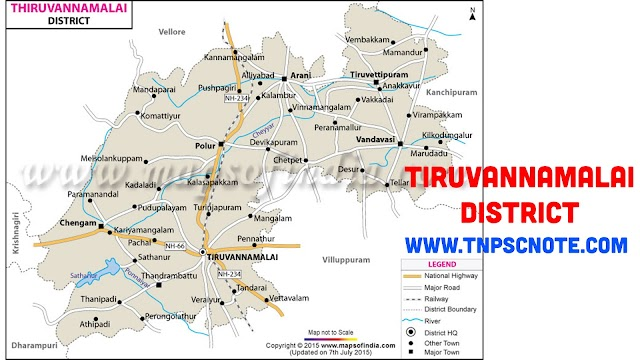 Thiruvannamalai District Information, Boundaries and History from Shankar IAS Academy