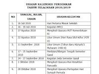 Kalender Pendidikan 2018/2019 Jawa Tengah