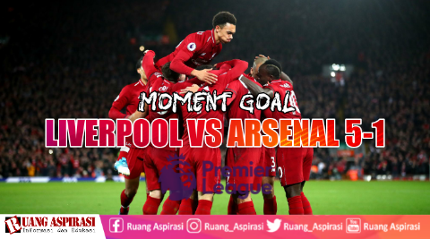 Hasil pertandingan Liverpool vs Arsenal 2018