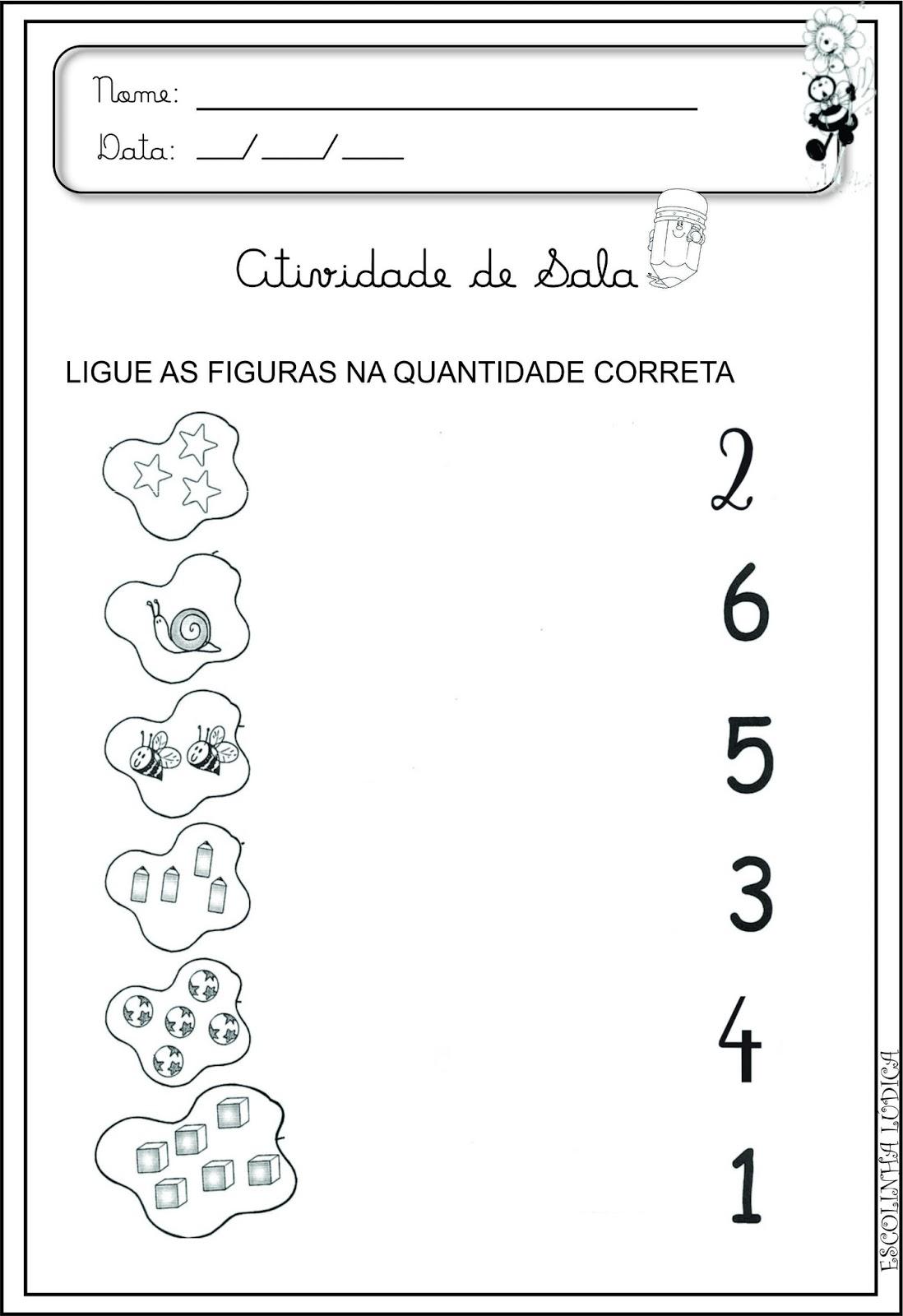 Super Portal do Professor do ensino Infantil: Atividades de Matemática JX81