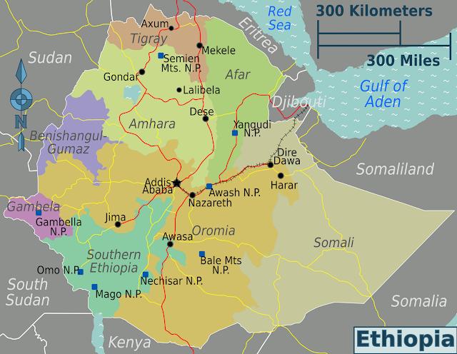 Resultado de imagen de blogspot, Mapa de etiopía
