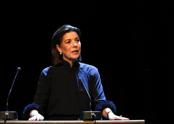 Princess Caroline attended the annual Prince Pierre Foundation Prizes ceremony at Opera Garnier of Monaco