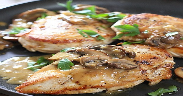 Chicken Breasts With Easy Mushroom Pan Sauce Recipe