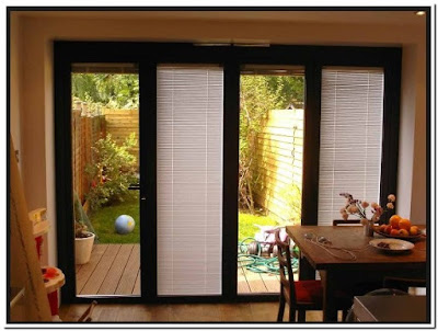 Single Patio Doors With Built In Blinds