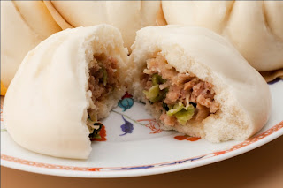 JAL Original Air Nikuman (Special Pork Bun) stuffed with 100% Yamato Pork