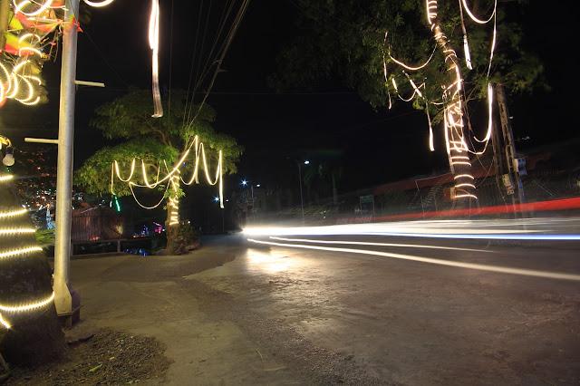 Và những hàng cây cũng được thắp sáng bởi những thứ gọi là ánh đèn