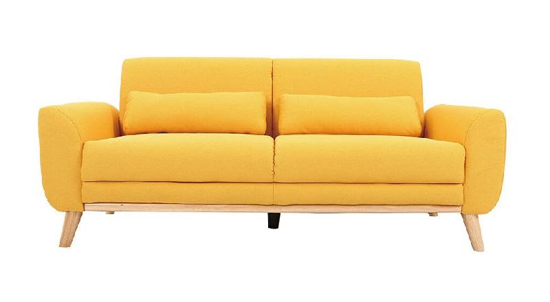 divano 3posti modello  EKTOR rivestimento giallo