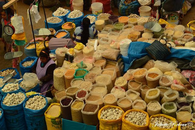 Légumineuses et céréales au Pérou